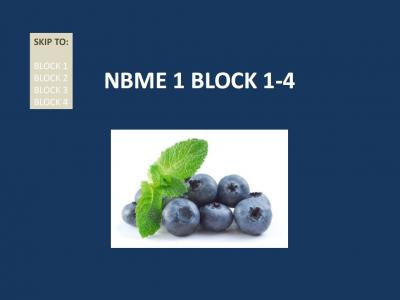 NBME 1 BLOCK 1-4 (with Answers).pdf