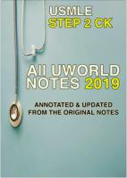 All UWORLD Notes 2019 for the USMLE Step 2 CK - Annotated and Updated from the Original notes.pdf