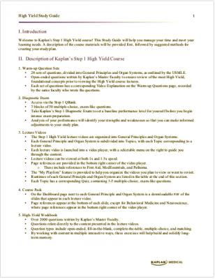 Kaplan High Yield Study Guide for the USMLE Step 1.pdf